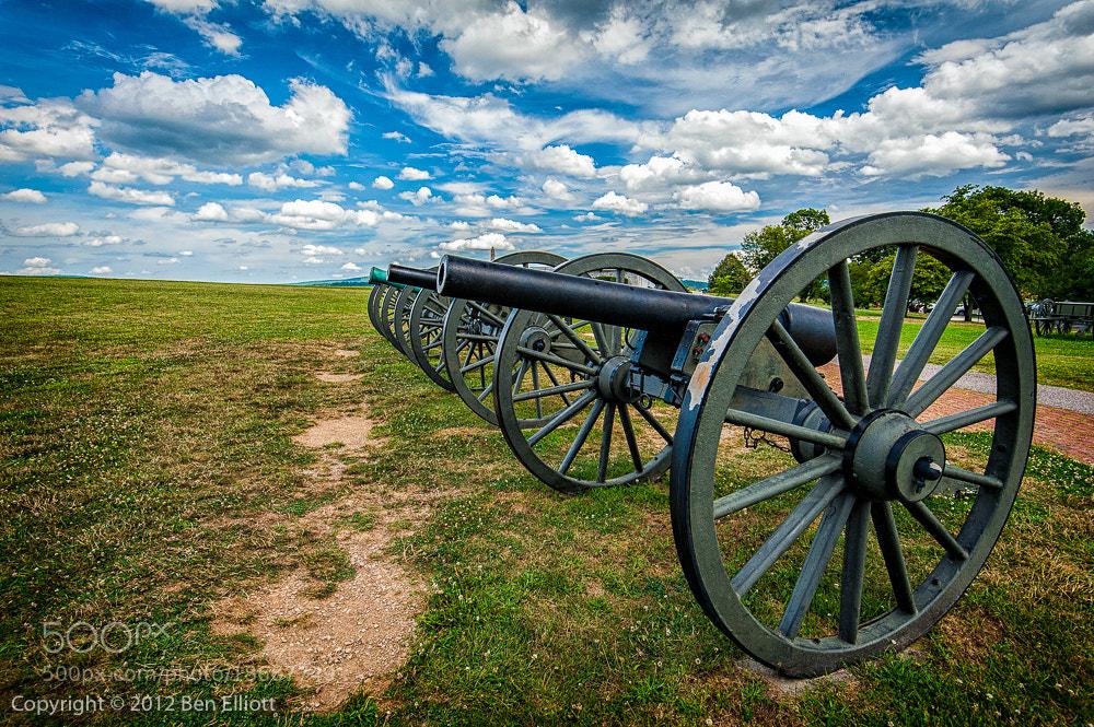 Photograph Antietam Cannons by Ben Elliott on 500px