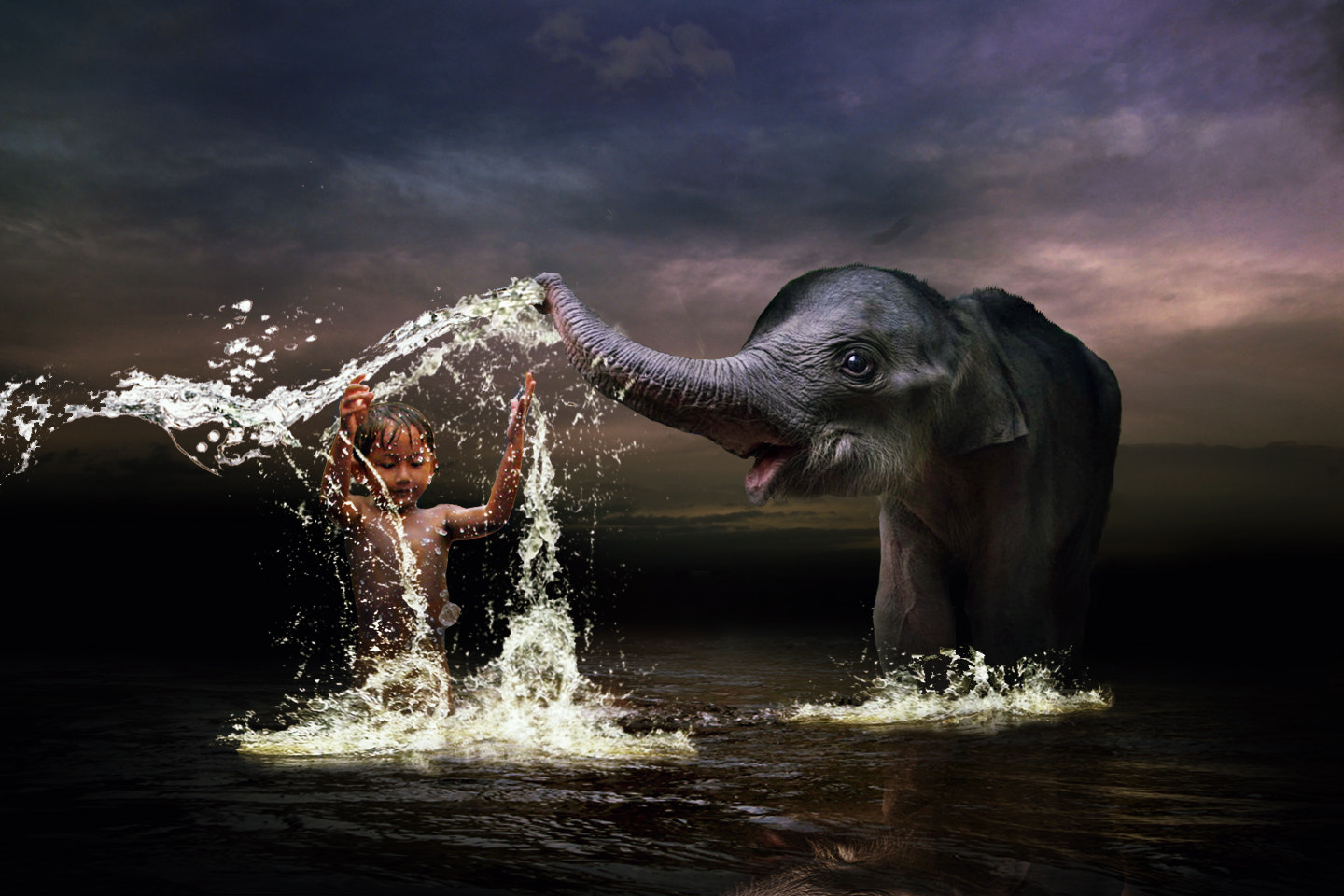 Photograph playing with elephant  by 3 Joko on 500px