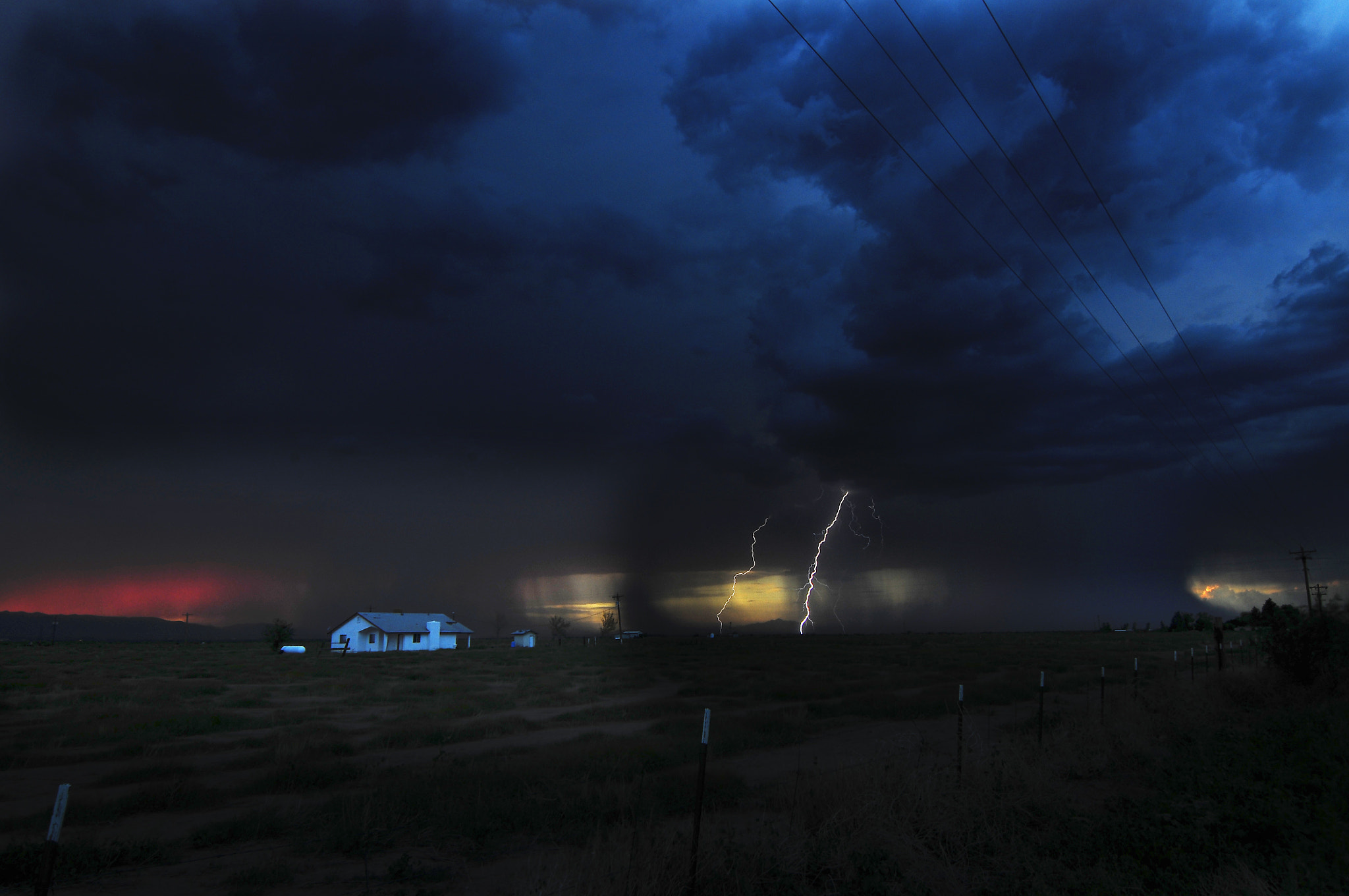 Photograph Lightning at Double Adobe by John  Forrey on 500px