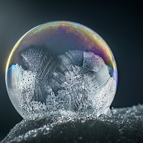 frozen soap-bubble