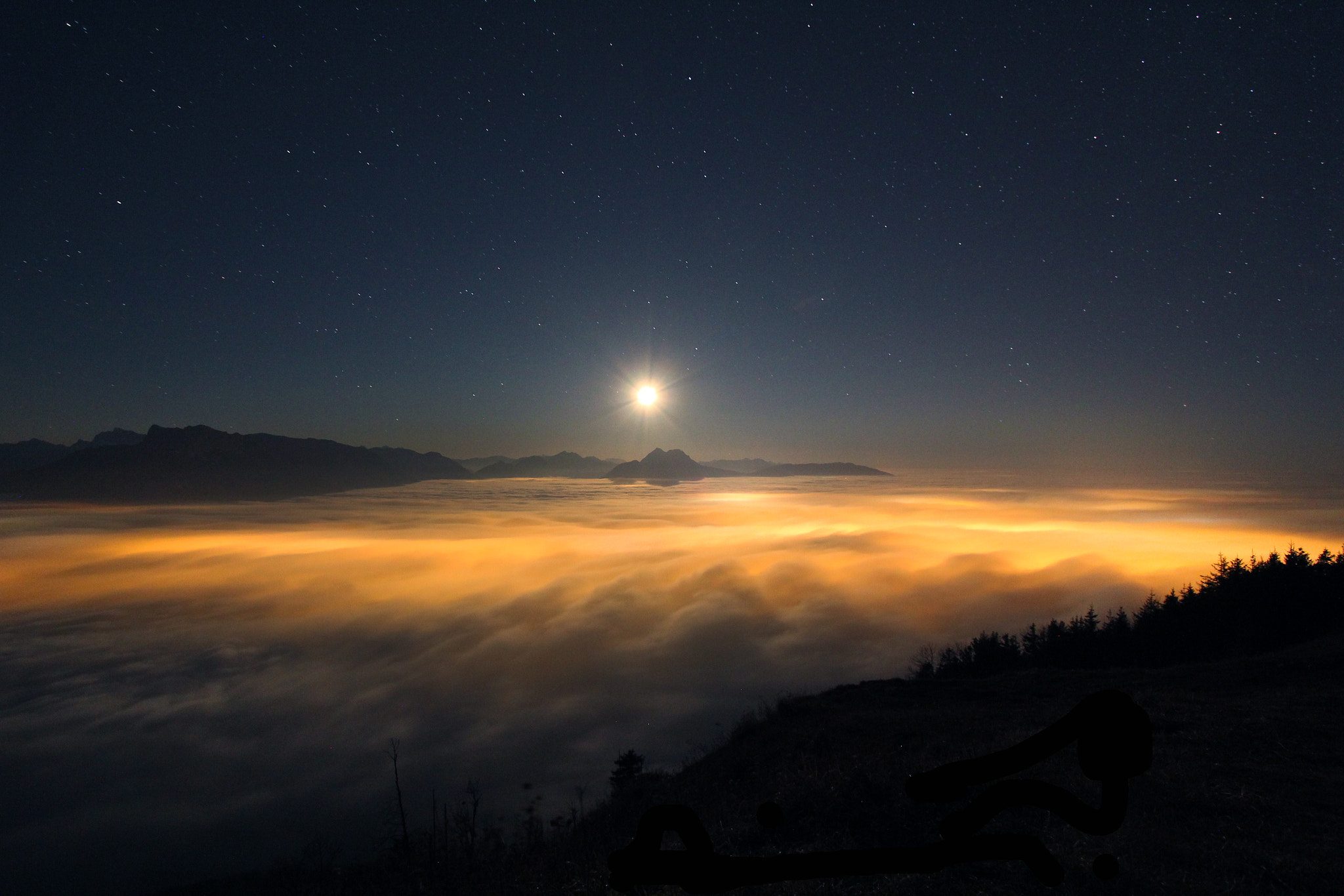 Photograph moon and fog  by Mex Brunner on 500px