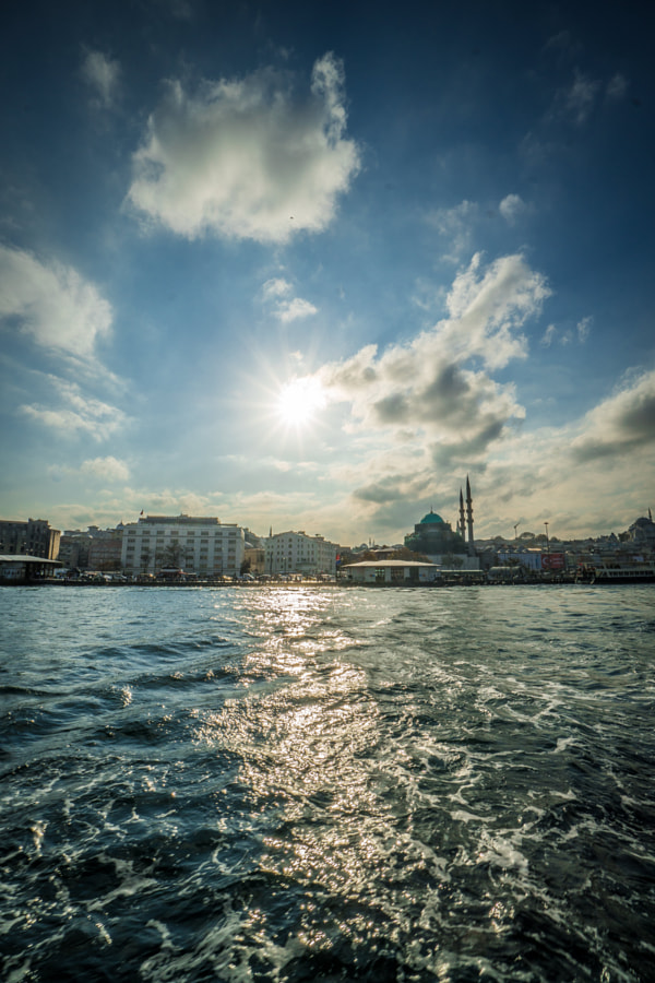 View from sea Istanbul