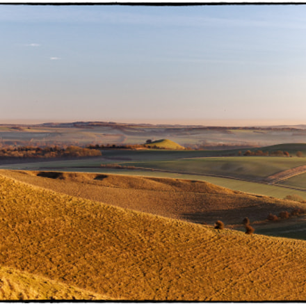 Late Evening Light in the Vale of Pewsey, Wiltshire