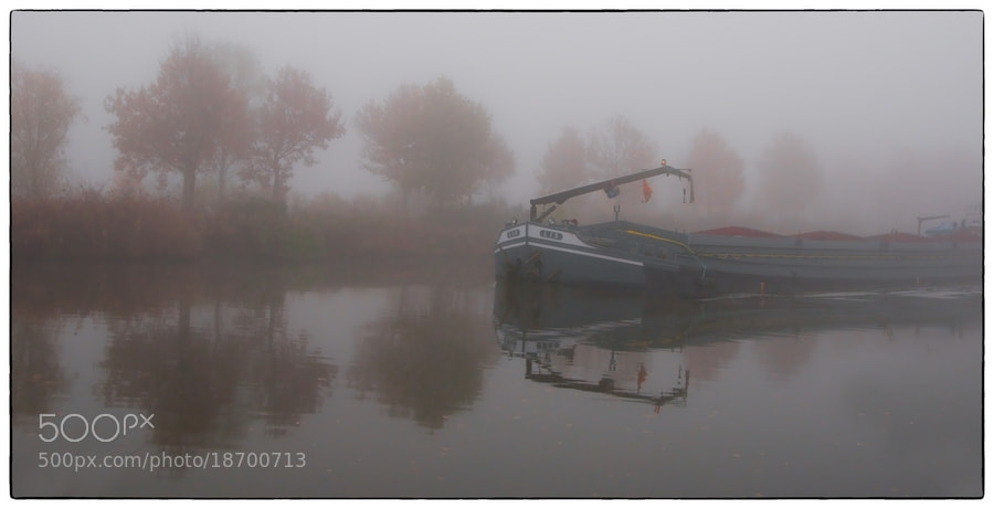 Photograph Canal on a misty day by Cor Pijpers on 500px