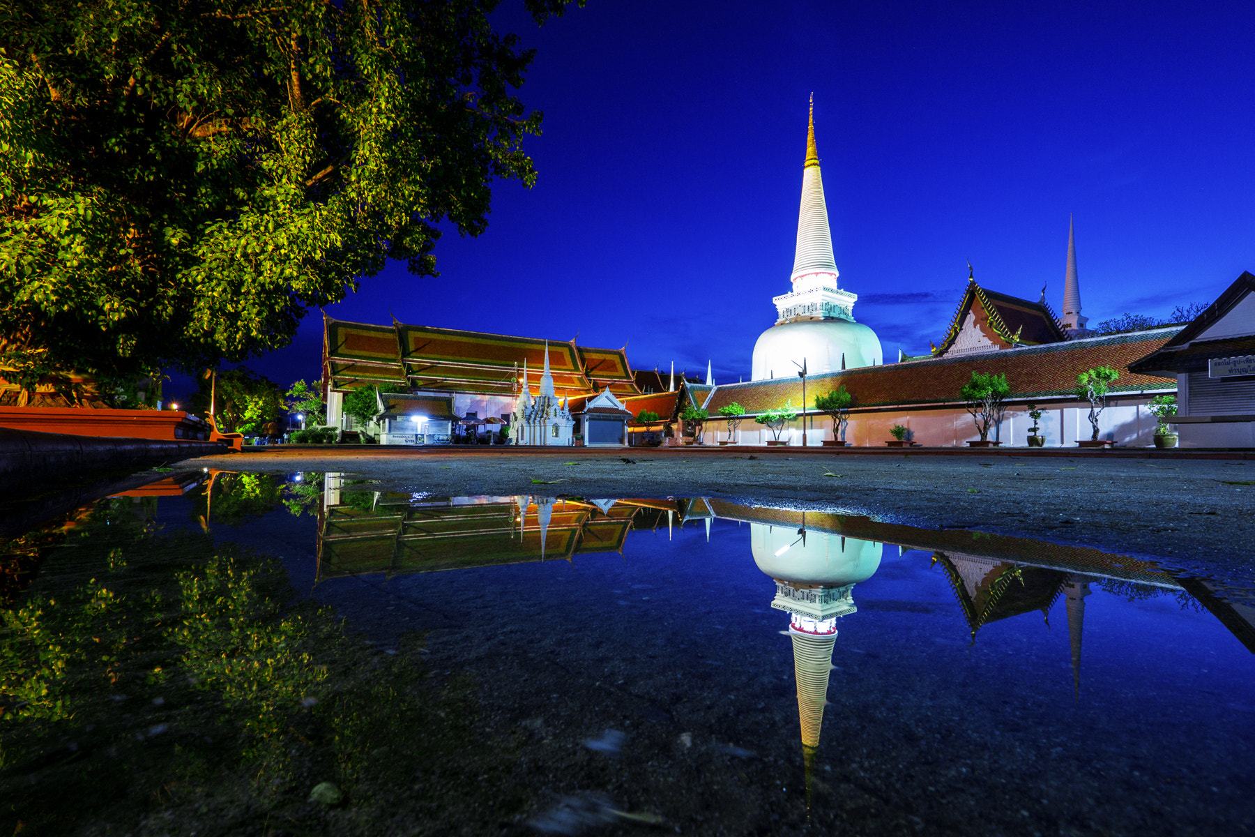 Photograph Temple Reflection by Suppalak Klabdee on 500px