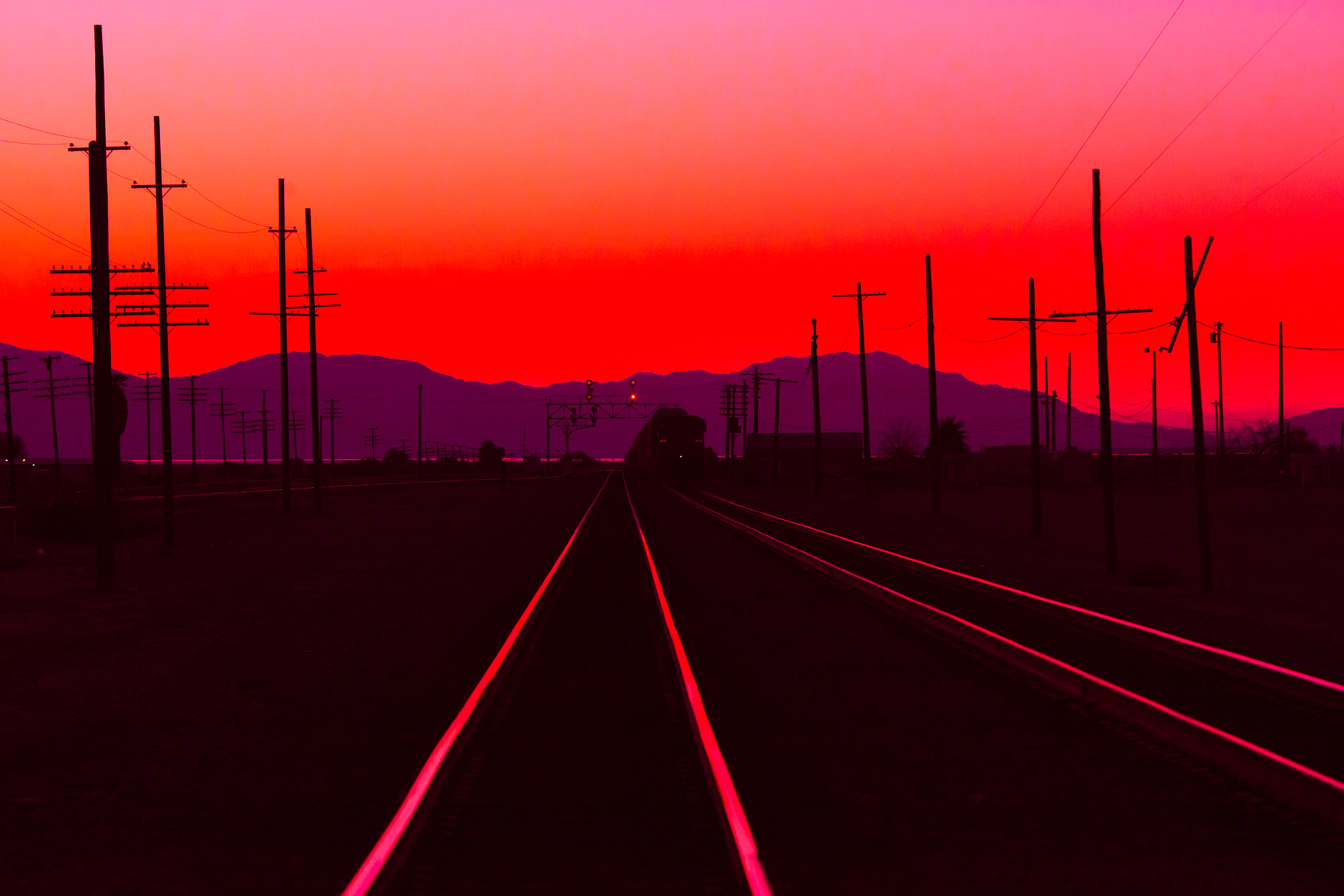 Photograph Last Train of the Day by Thomas Hawk on 500px