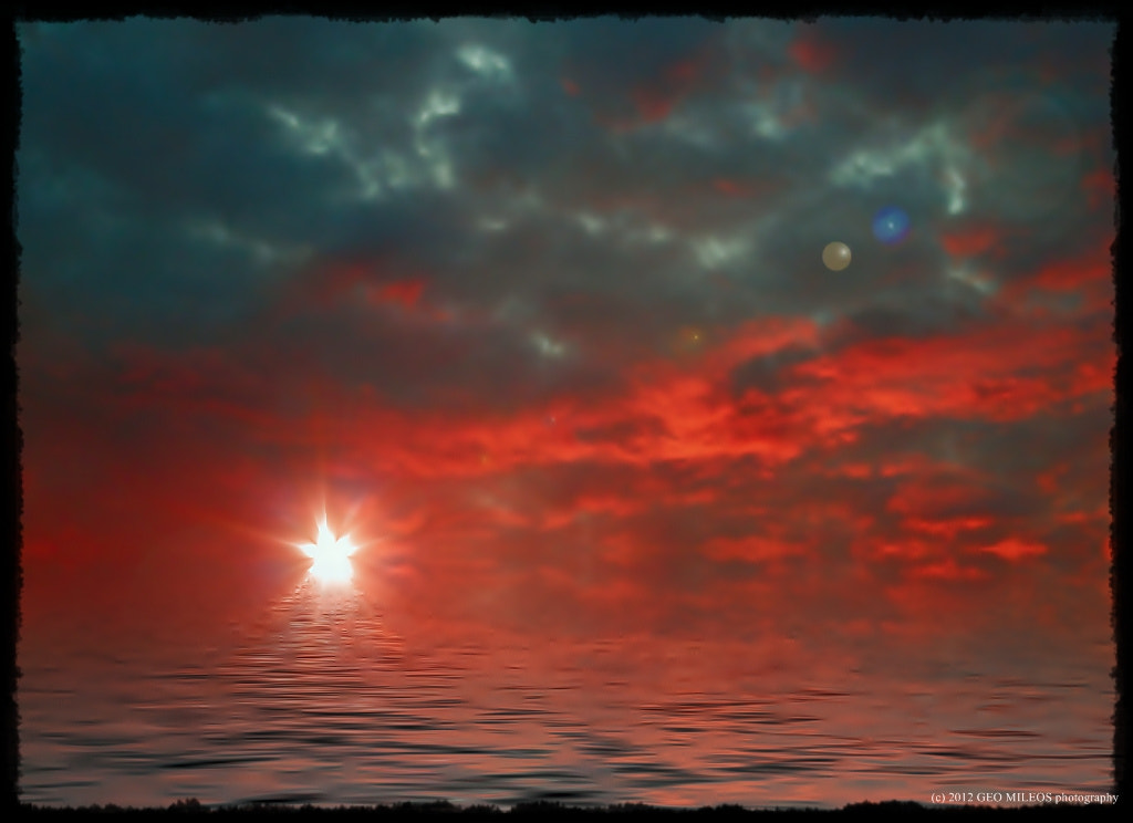 Photograph the ruby sky by gmileos on 500px
