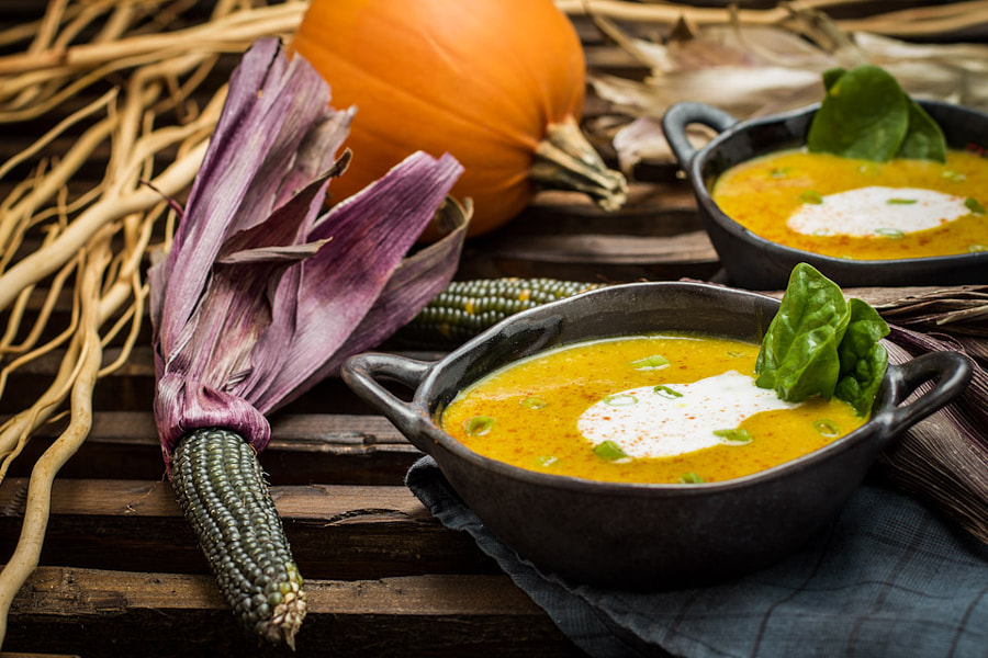 Roasted Pumpkin and Coconut Curried Soup