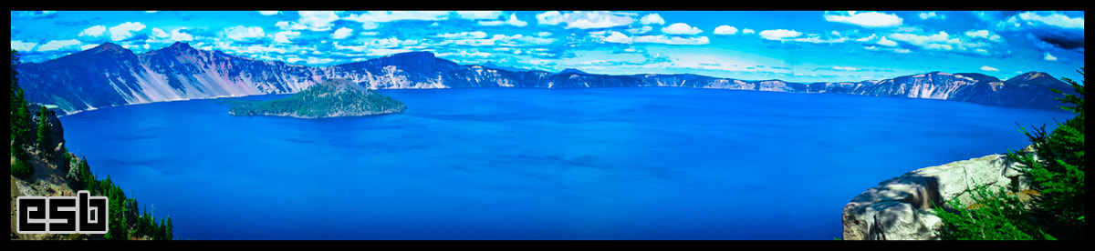 Photograph Crater Lake Panoramic by ESB Media on 500px