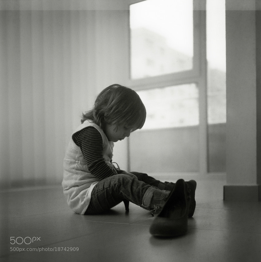 Photograph Ali with a shoe by Silvia Georgieva on 500px