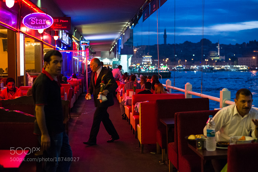 Photograph Galata bridge restaurants (Karikoy Side), Istanbul by Sunil Thakkar on 500px