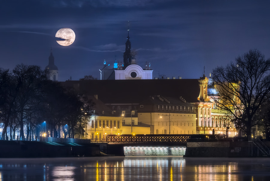 Moonlight in Wroclaw