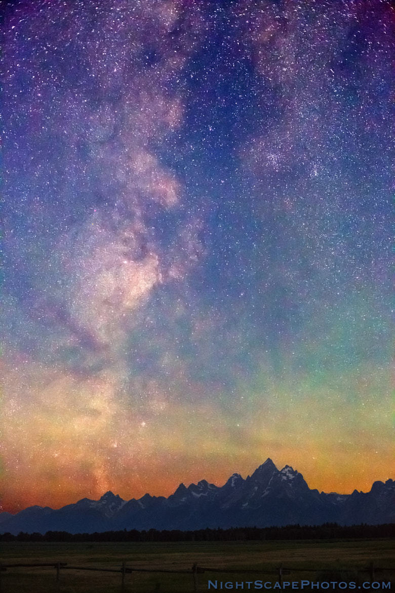 Photograph Milky Way Dawn over Tetons by Royce's NightScapes on 500px