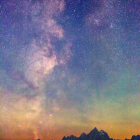 Milky Way Dawn over Tetons by Royce's NightScapes (nightscape)) on 500px.com