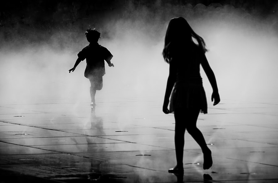 Photograph Childhood running by Magali K. on 500px