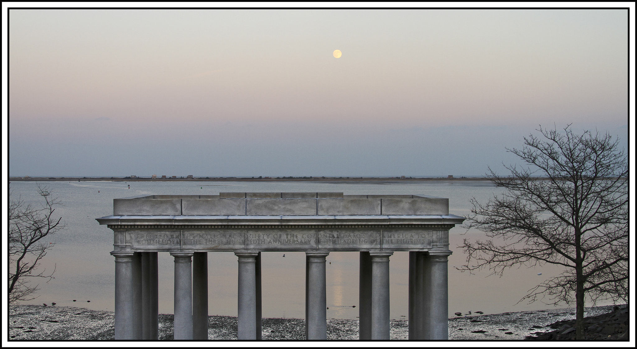 Photograph Moonrise Over Plymouth Rock by Tom  Shacochis on 500px