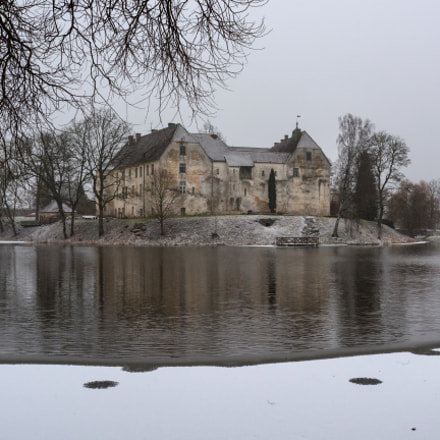 Jaunpils castle in winter