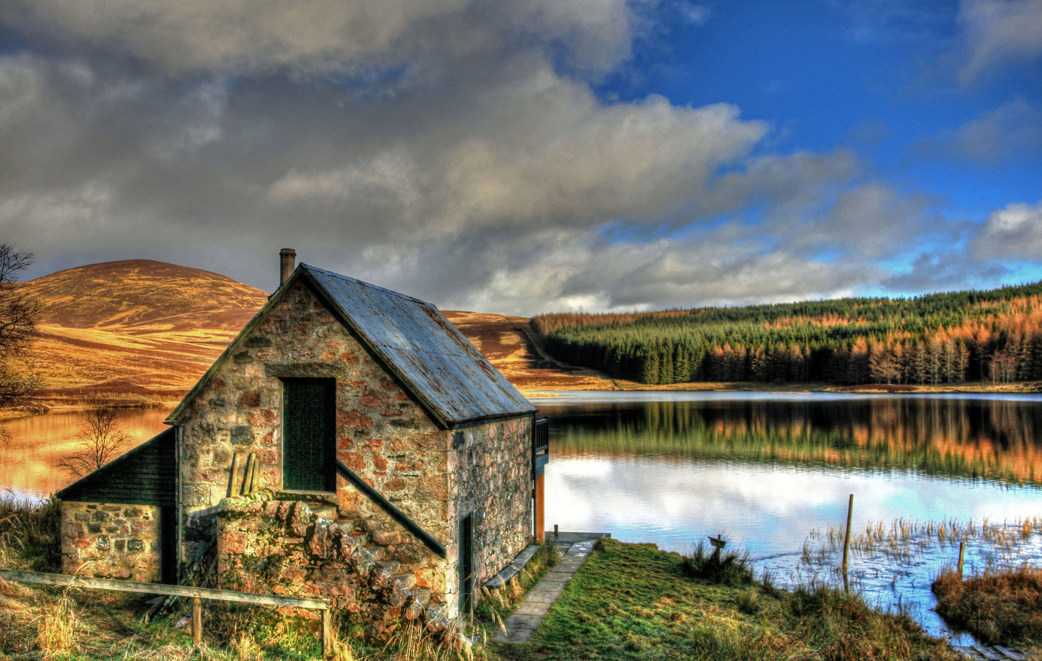 Photograph Boathouse At Loch Auchentaple 2 by Hilda Murray on 500px