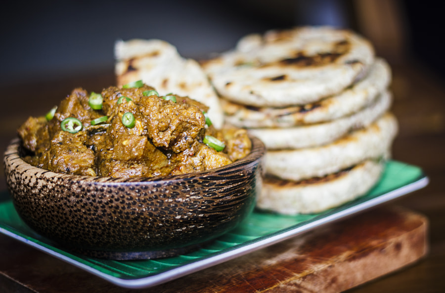 Sri Lankan Black pork Curry with Coconut Rotti by Son of the Morning Light on 500px.com