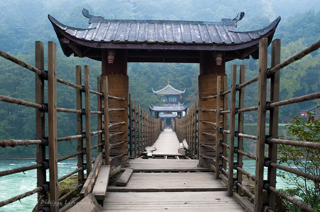 Photograph Bridge at Dujiangyan by Philippe Lejeanvre on 500px