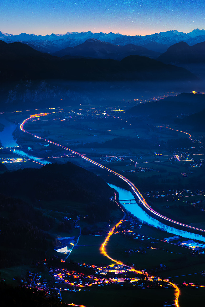 Photograph lights in the valley by Stefan Thaler on 500px