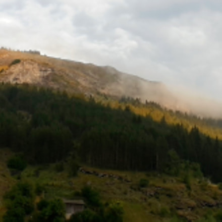 Rhodope Mountain clothed in clouds