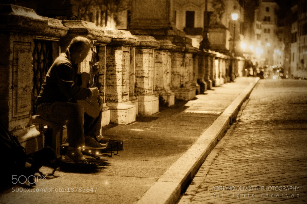 Photograph Soft music in the street by Adriano Olivotti on 500px