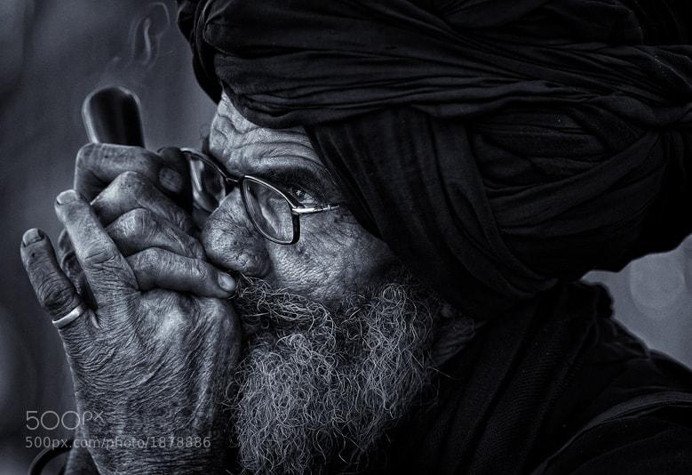 Sadhu smoking chillum