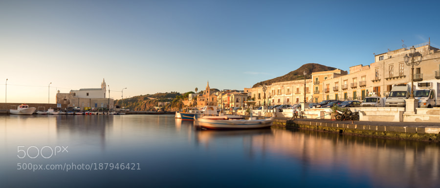 Marina Corta in morning sunlight
