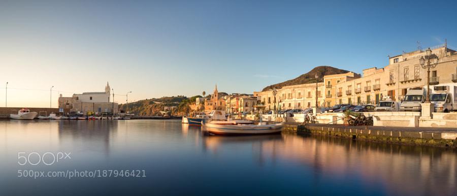 Marina Corta in morning sunlight