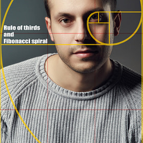 Portrait - Rule of thirds and Fibonacci spiral by Marco Ciofalo Digispace on 500px.com