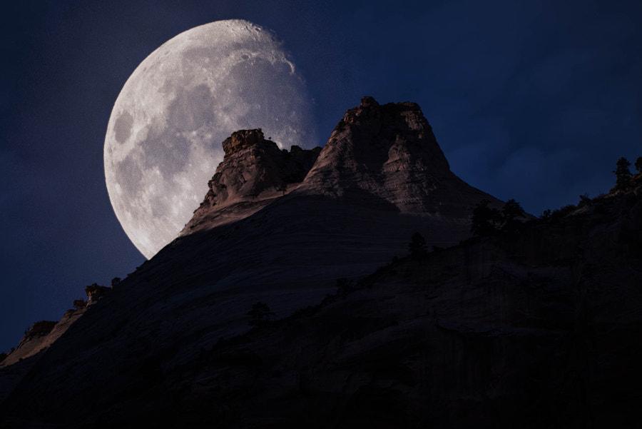 Zion National Park Moon