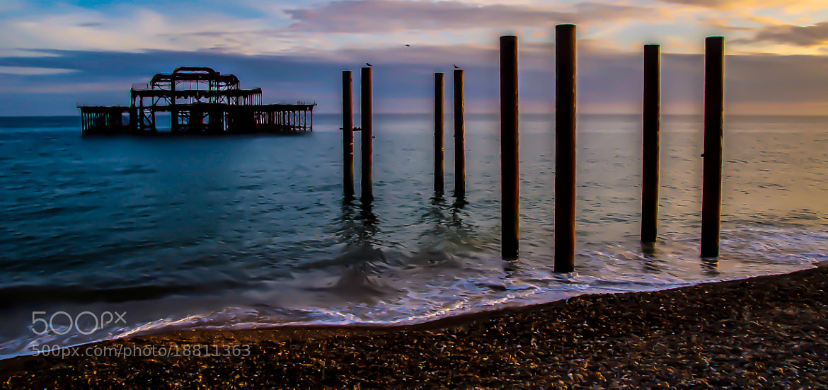 Photograph The Wreck of the West Pier by julian john on 500px