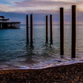 The Wreck of the West Pier by julian john (sandtasticdays)) on 500px.com