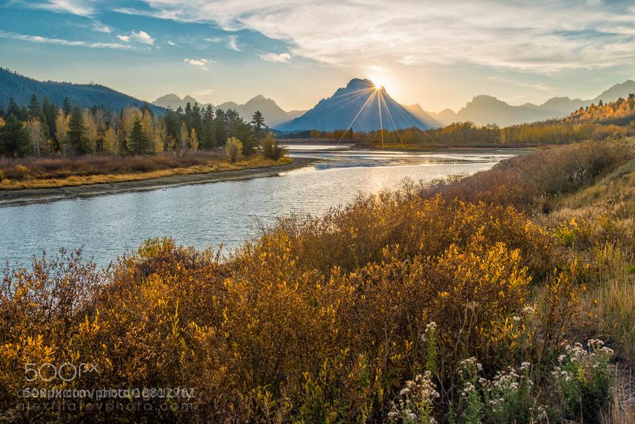 Photograph Oxbow Bend Sunset by Alex Filatov | alexfilatovphoto.com on 500px