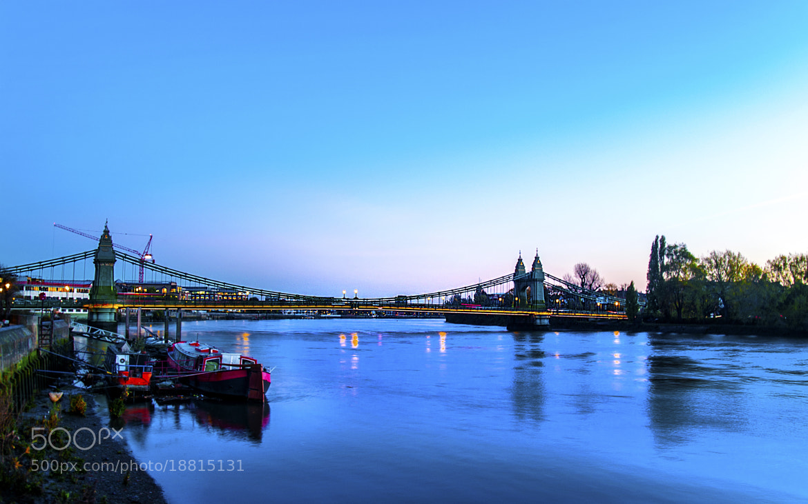 Photograph Hammersmith Bridge at Dusk by Chris Maskell on 500px