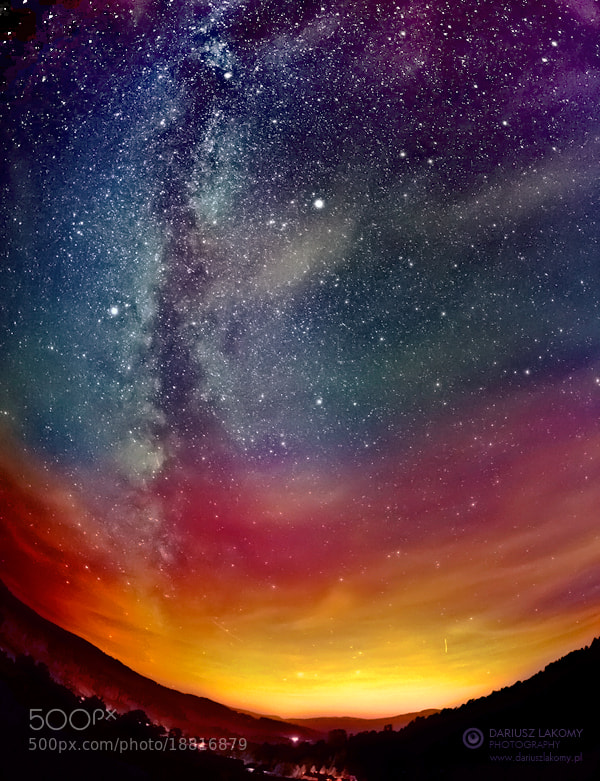 Photograph Colours of the night by Dariusz Lakomy on 500px