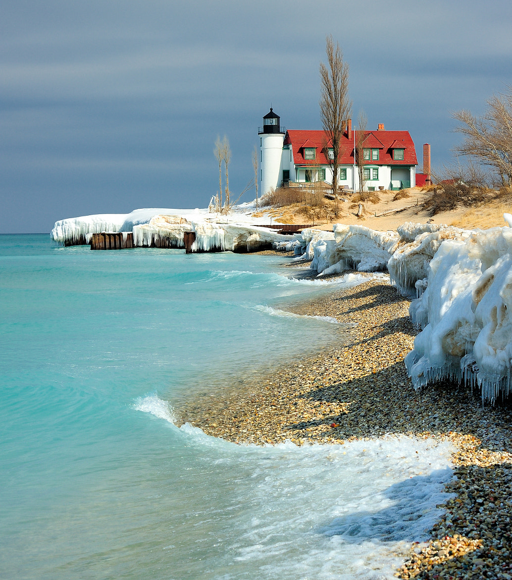 "Photograph ""March Thaw"" Point Betsie Lighthouse - Crystallia, Michigan by John McCormick on 500px"