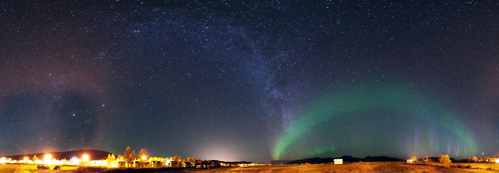 Photograph Nothern Lights- and Milky Way-Arch by Christoph  Otawa on 500px