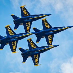 The 2010 Blue Angels parade in San Francisco