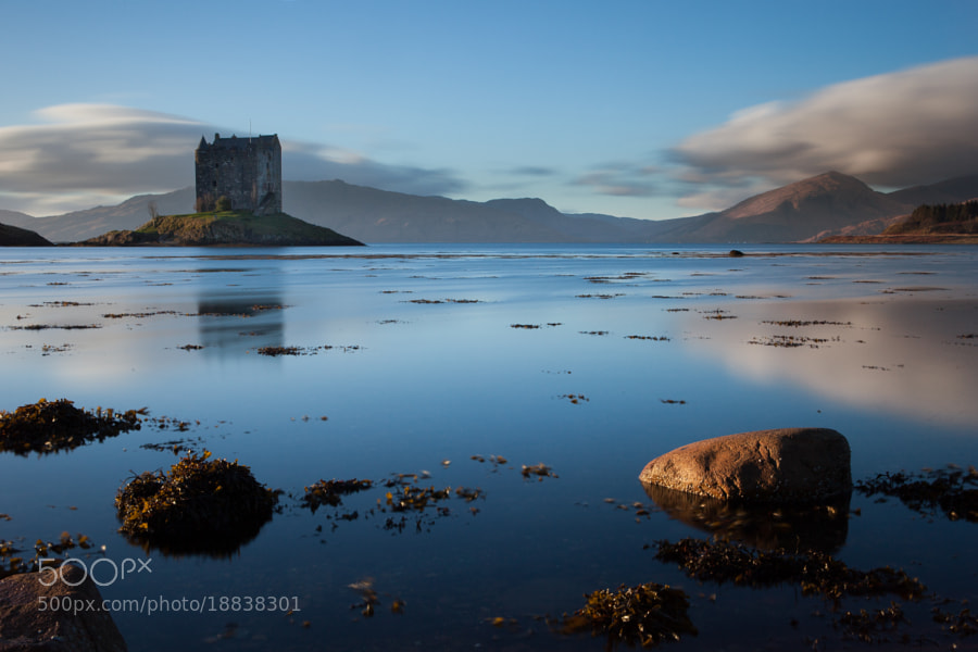 Castle Stalker long exposure.