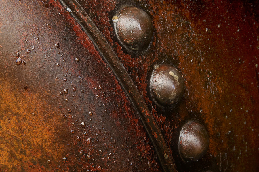 Three rivets