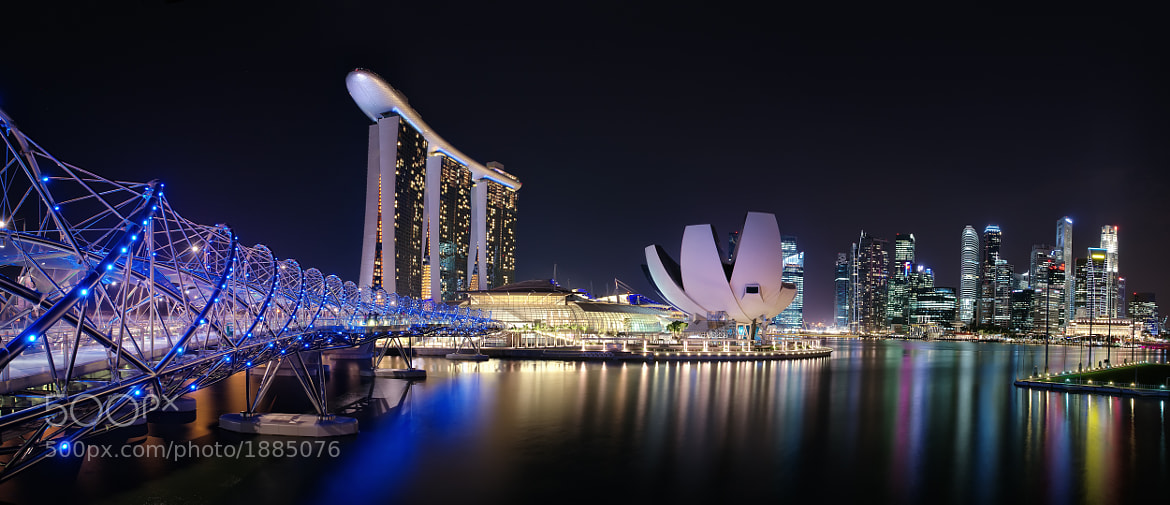 Photograph Marina Bay - Panoramic by Dean Mullin on 500px