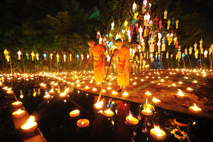 Photograph Candle Festival by Wanasapong Jaiinpol on 500px