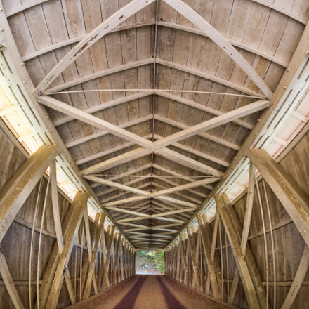 Covered bridge interior, Nikon D7100, AF DX Fisheye-Nikkor 10.5mm f/2.8G ED