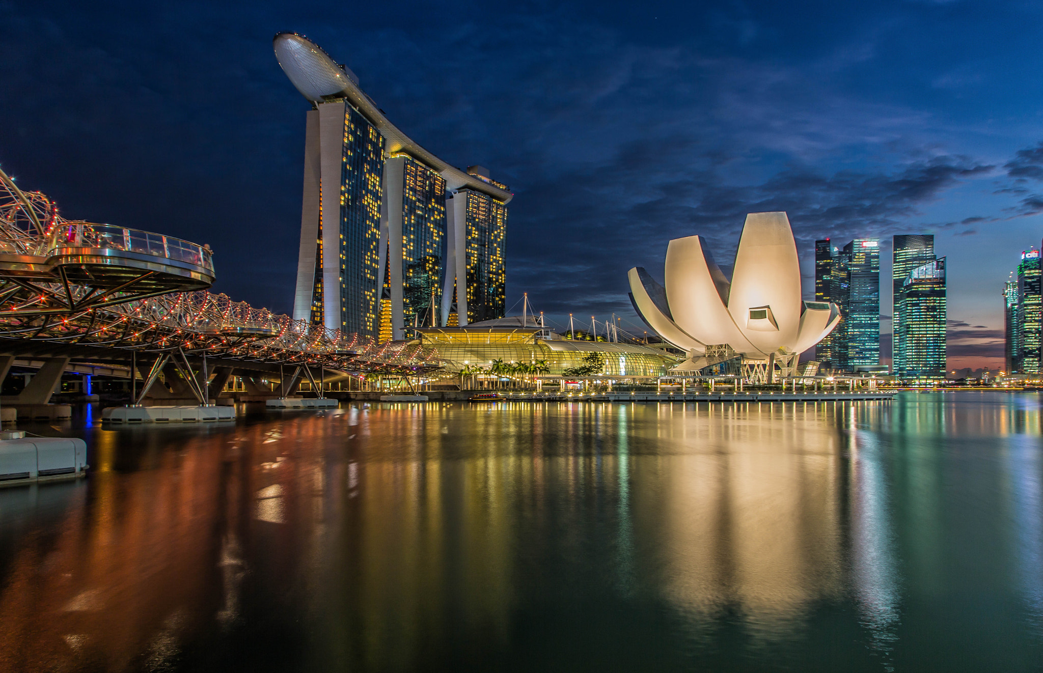 Photograph Singapore - Marina Bay Sands and Helix Bridge by Peter Craig on 500px
