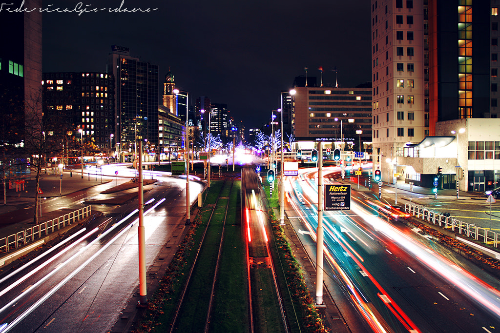 Photograph Rotterdam city lights by Federica Giordano on 500px