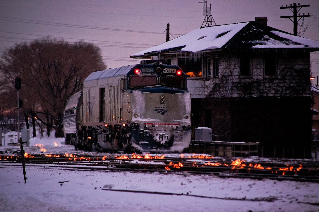Photograph fire on the tracks by Sam D. on 500px