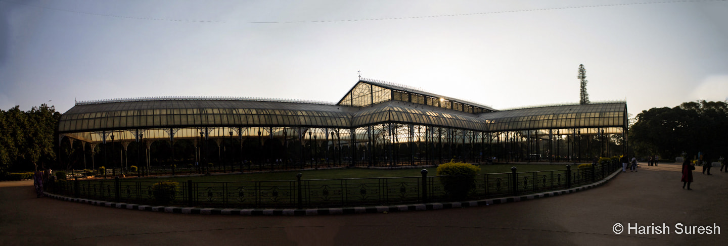 Photograph Lal Bagh Glass House Panorama by Harish Suresh on 500px