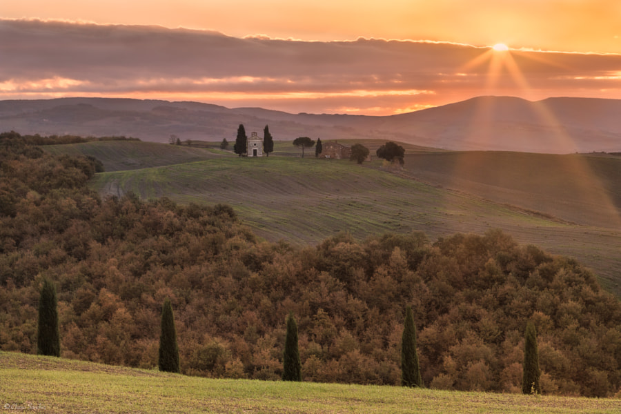 Sunrise with Soul || San Quirico d´Orcia, Siena by Chano Sanchez on 500px.com